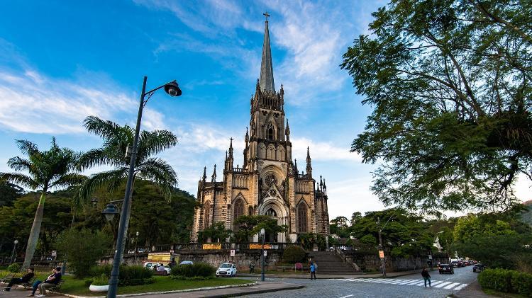 Catedral São Pedro de Alcântara, em Petrópolis, no Rio de Janeiro - dabldy/Getty Images