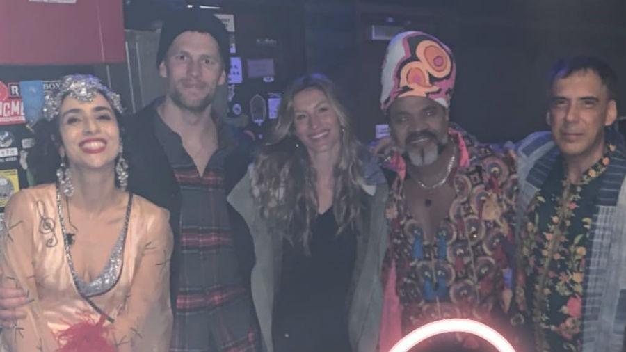 Marisa Monte, Tom Brady, Gisele Bündchen, Carlinhos Brown e Arnaldo Antunes - Reprodução/Instagram