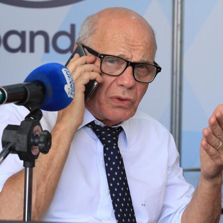 O apresentador Ricardo Boechat na rádio BandNews FM - Jose Lucena/Futura Press/Folhapress