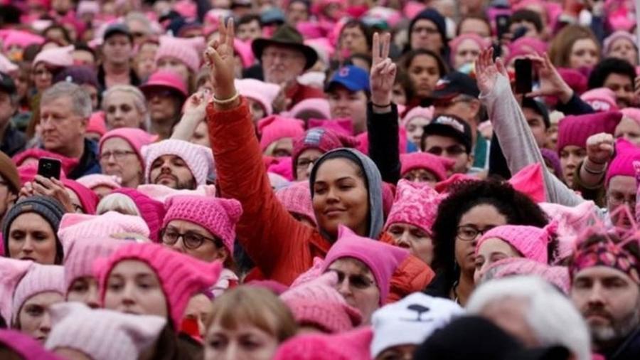 A Marcha das Mulheres reuniu milhões de pessoas ao redor do mundo - Reuters
