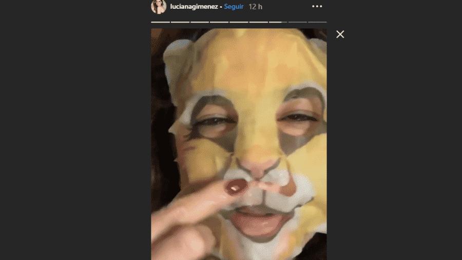 Luciana Gimenez posta vídeo usando máscara de hidratação facial - Reprodução/Instagram