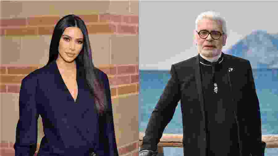Kim Kardashian posou para ensaio com Karl Lagerfeld em 2003 - Getty Images