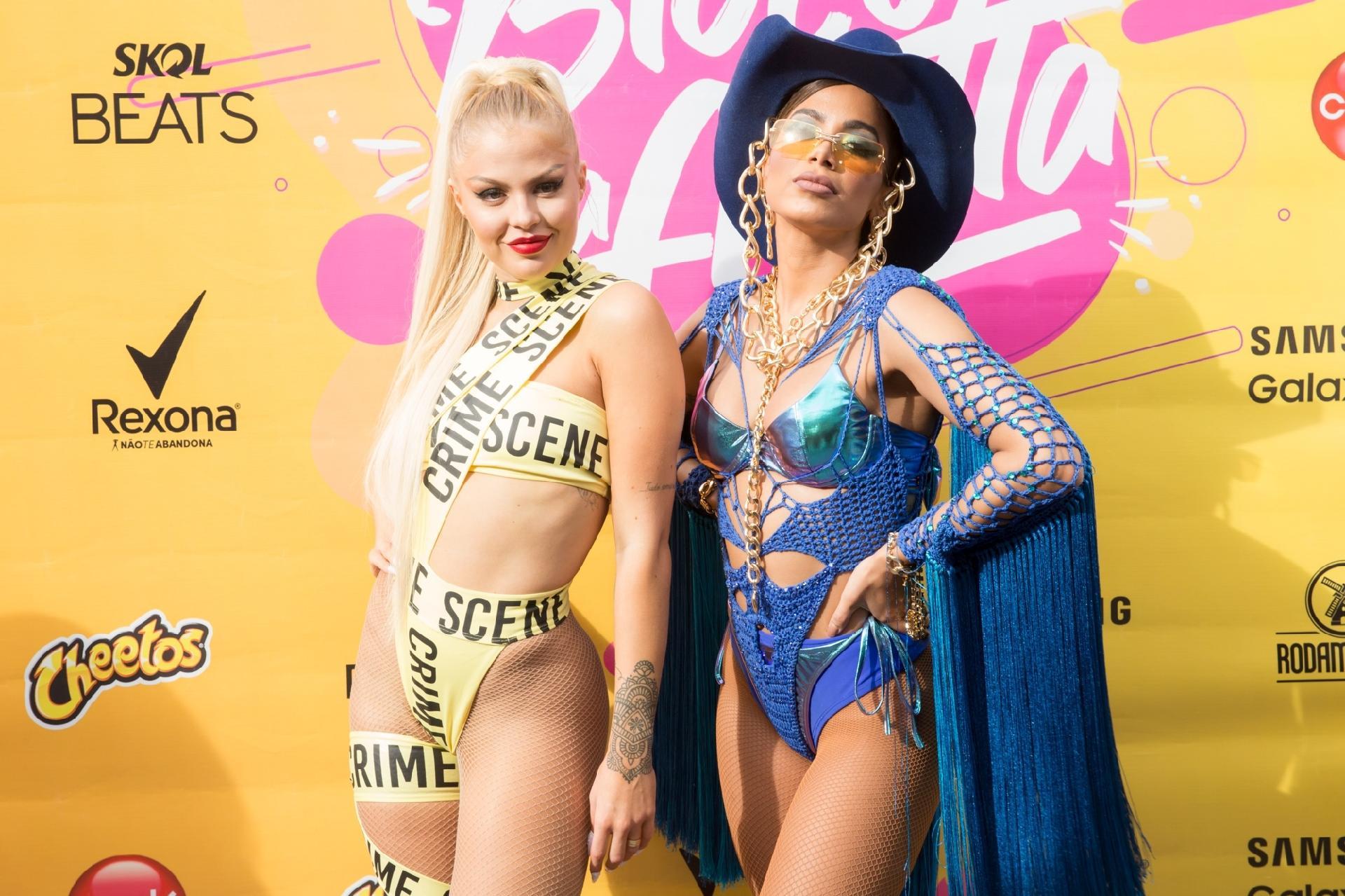 Anitta: Em bloco da cantora, Luísa Sonza faz referência a Lady Gaga