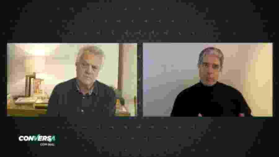 """William Bonner dá entrevista ao programa """"Conversa com Bial"""" - Reprodução"""