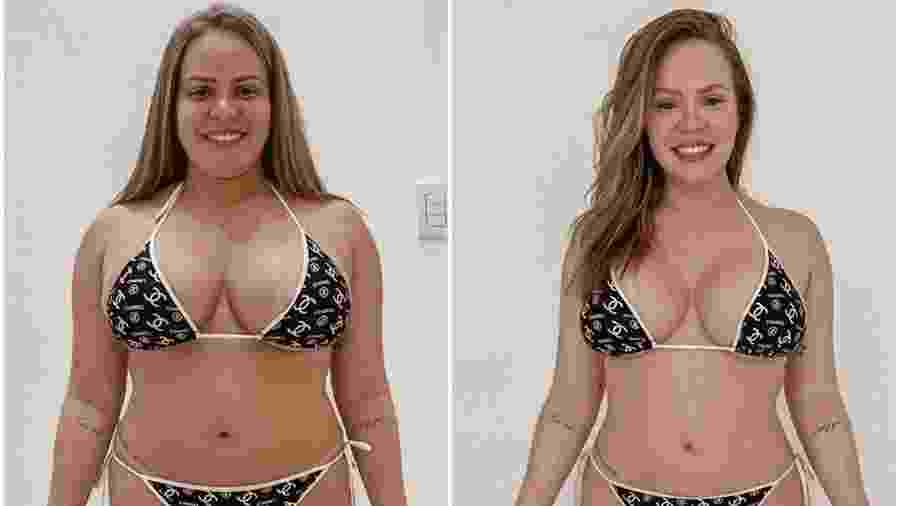 Paulinha Leite mostra antes de depois da dieta - Reprodução/Instagram