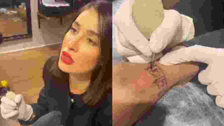 Boca Rosa em estúdio de tatuagem - Reprodução/Instagram