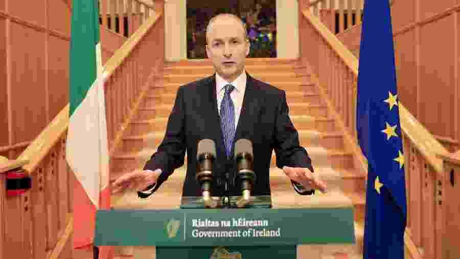 Primeiro ministro da Irlanda, Micheal Martin, apresentou desculpas oficiais do país pela morte de 9 mil crianças - JULIEN BEHAL/AFP