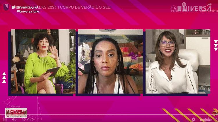 A atriz Taís Araújo, que participou do painel do Universa Talks com a dermatologista Fabiana Wanick e mediação de Fabi Gomes.   - Mariana Pekin/UOL - Mariana Pekin/UOL