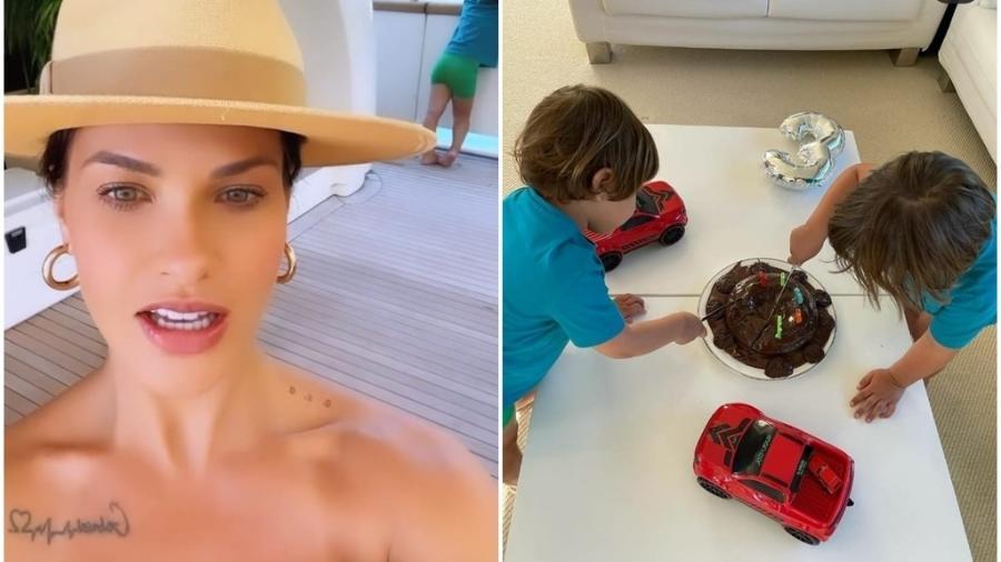 Andressa Suita comemora aniversário do filho em iate - Reprodução/Instagram