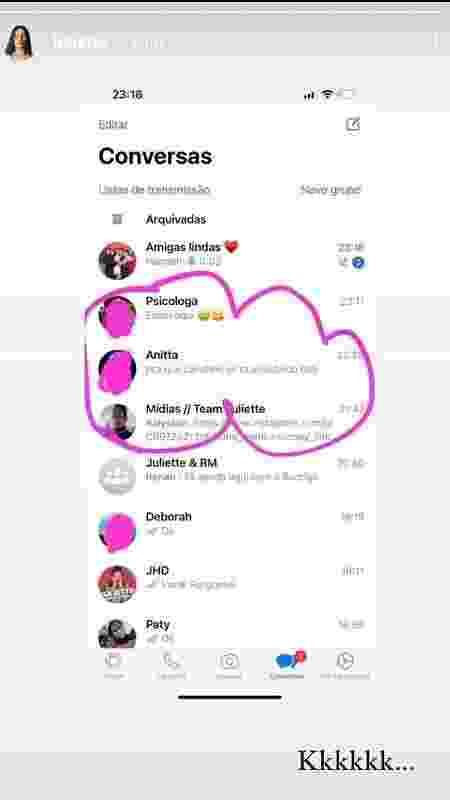 print-juliette-bronca-anitta - Reprodução/Instagram - Reprodução/Instagram