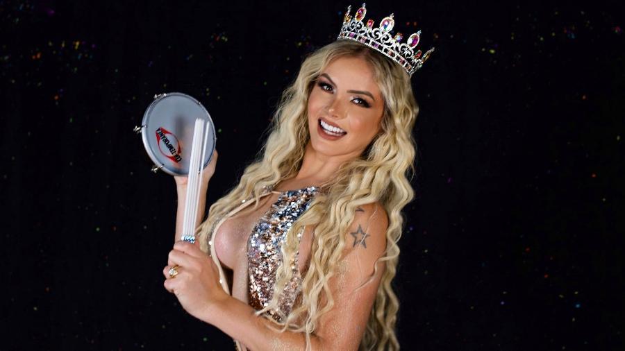 Modelo Thalita Zampirolli será rainha de bateria na GRES Independente de Boa Vista no Carnaval 2022 - Divulgação/Mayron Brum