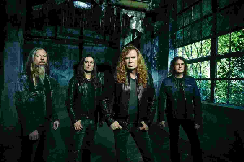 Chris Adler (bateria), Kiko Loureiro (guitarra), Dave Mustaine (vocal e guitarra), David Ellefson (baixo) - Divulgação