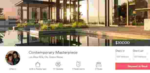 Anúncio da mansão que hospedou Beyoncé no Airbnb - Divulgação/Airbnb - Divulgação/Airbnb