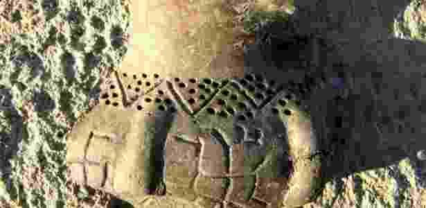 Imagem de pictograma descoberto na Bulgária: um dos mais antigos do mundo - Efe