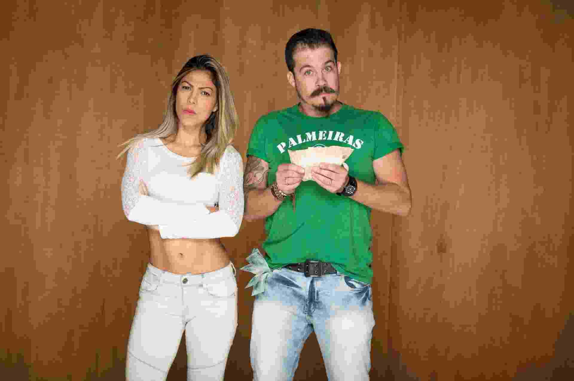 Patricia e Eduardo: Casado com Patrícia (33) há 5 anos, Eduardo é O GASTADOR. Patrícia já não consegue mais conviver com a impulsividade e a falta de planeamento financeiro do esposo - Divulgação/Fox