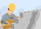 Calcule o material para dar acabamento à parede do chapisco até o reboco - Rogério Doki/ Arte UOL