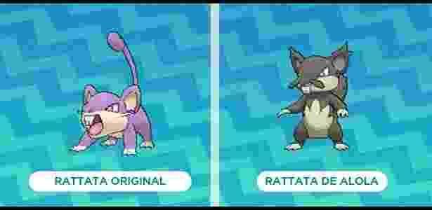 Veterano da série, Rattata é um dos monstrinhos que ganharam cara nova no game - Reprodução