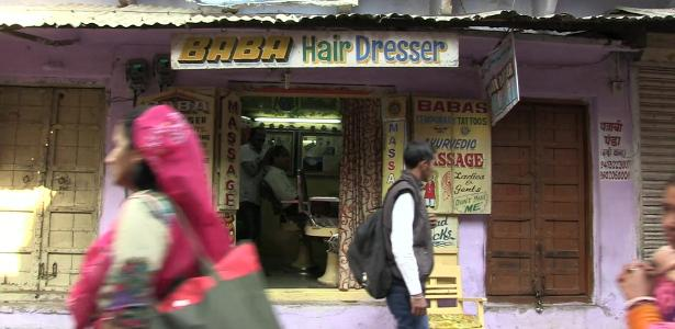 A loja fica na cidade de Pushkar, no nordeste da Índia
