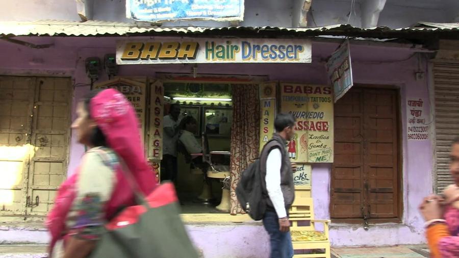 A loja fica na cidade de Pushkar, no nordeste da Índia - BBC