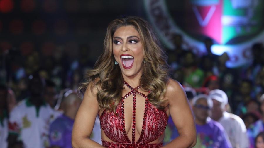 Juliana Paes é coroada a rainha da Grande Rio para o Carnaval 2018 - Daniel Pinheiro/AgNews