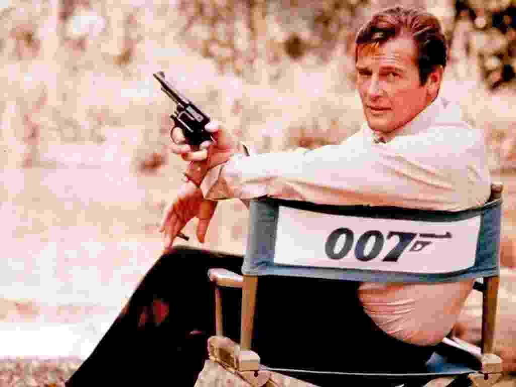 Roger Moore como 007 em 1972 - AP