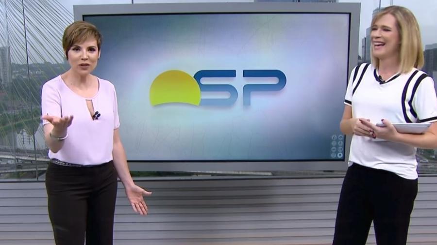 """Gloria Vanique diz no """"Bom Dia SP"""" que vai tentar secar roupa no freezer - Reprodução/Globo"""