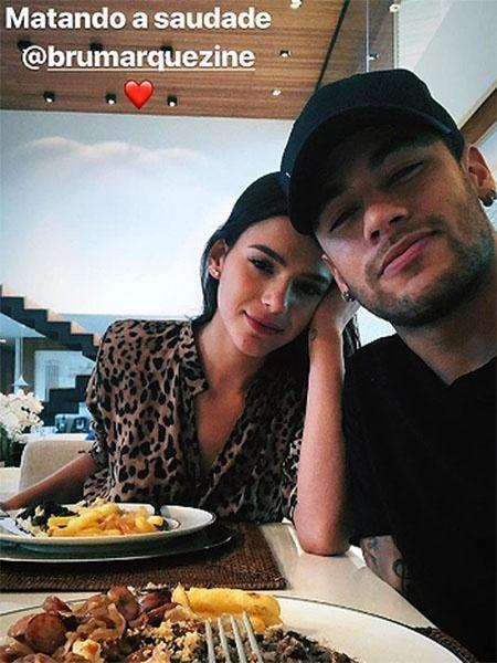 Neymar e Bruna Marquezine almoçam juntos - Reprodução/Instagram