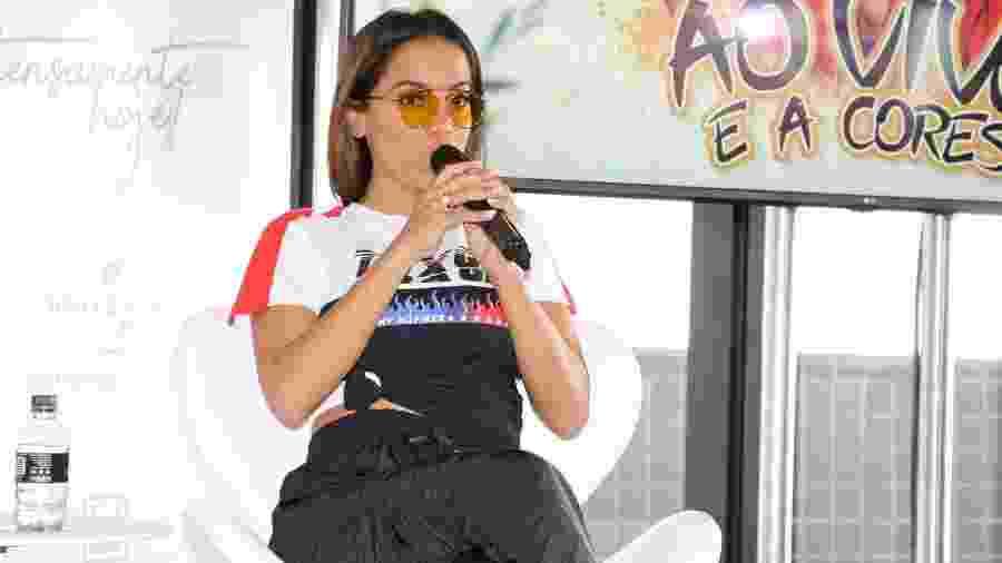 """Anitta participa do lançamento do clipe de """"Ao Vivo e a Cores"""", parceria dela com Matheus & Kauan - Deivid Correa/AgNews"""