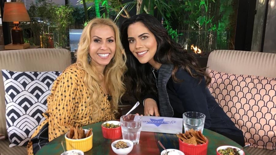 Joelma durante entrevista a Daniela Albuquerquem na RedeTV! - Divulgação/RedeTV!