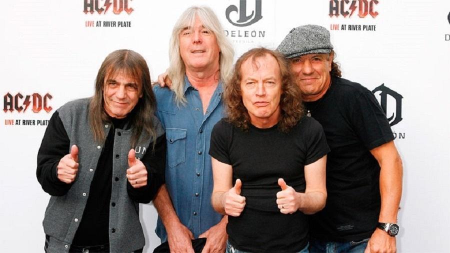 """AC/DC durante o lançamento de """"Live at River Plate"""" (2011) - Getty"""