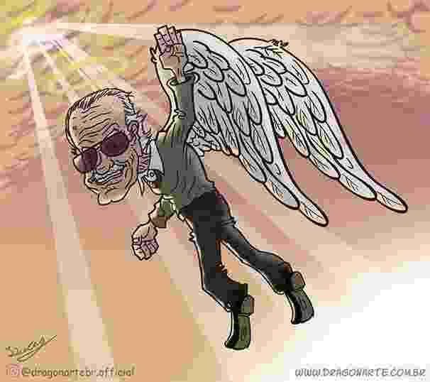 Homenagem feita a Stan Lee pelo artista brasileiro Lucas Nascimento - Lucas Nascimento