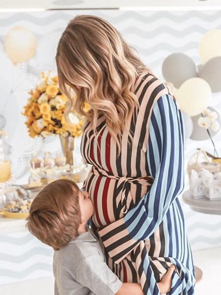 Luma Costa no chá de bebê de Eduardo - Reprodução/Instagram