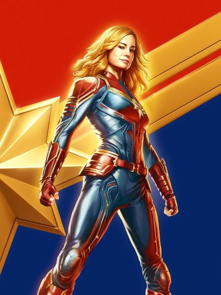 """Pôster de """"Capitã Marvel"""", lançado na CCXP - Reprodução/Twitter"""