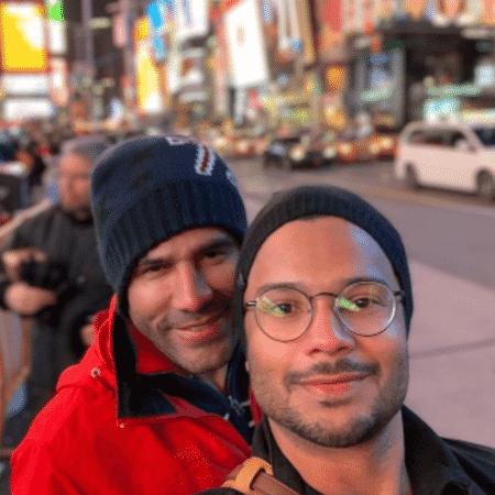 """Rodrigo Sant""""Anna e Junior Figueiredo em Nova York - Reprodução/Instagram"""