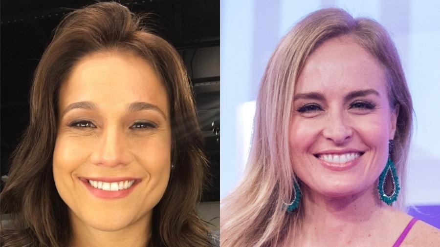 Programas de Fernanda Gentil e Angélica são dúvidas na nova grade de programas da emissora - Montagem/UOL