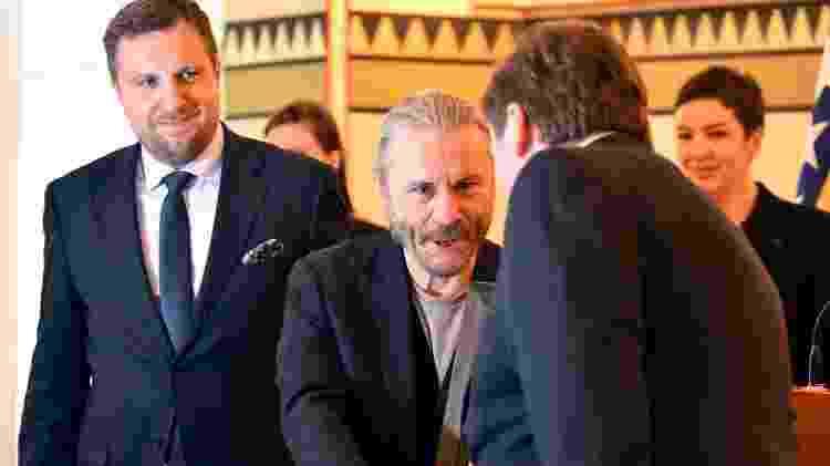 Bruce Dickinson foi a Sarajevo receber homenagem - ELVIS BARUKCIC / AFP