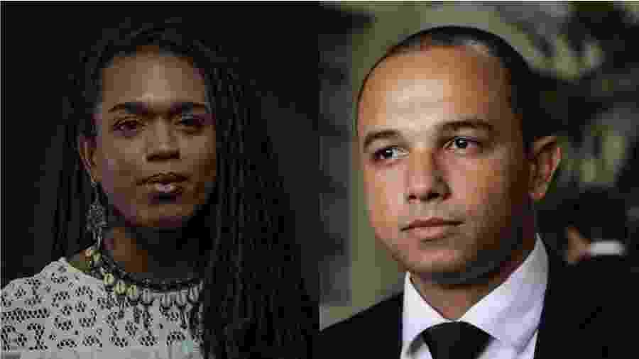 Os deputados estaduais paulistas Érica Malunguinho (PSOL) e Douglas Garcia (PSL) - Folhapress