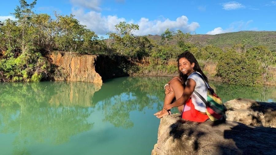 Manoela Ramos na Serra do Tepequém, em Roraima - Reprodução/Instagram