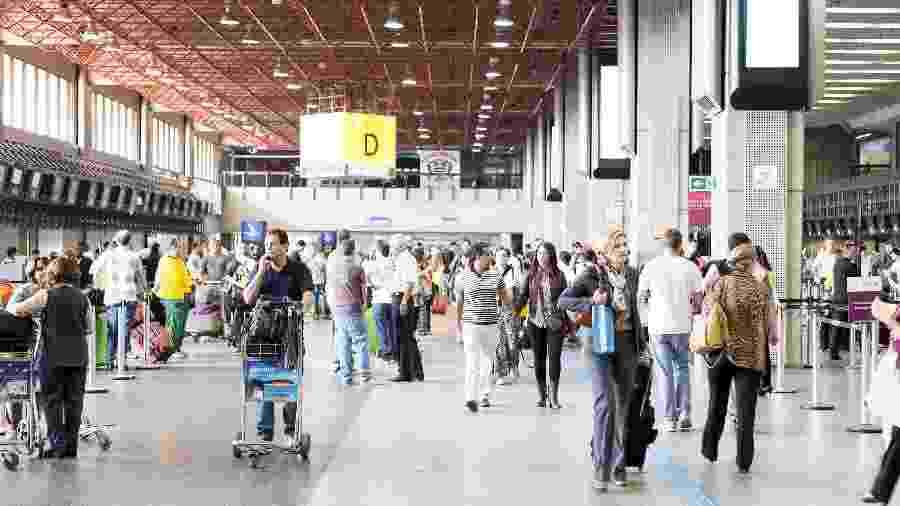 O aeroporto de Guarulhos é origem das cinco rotas com mais atrasos e cancelamentos do país  - Getty Images