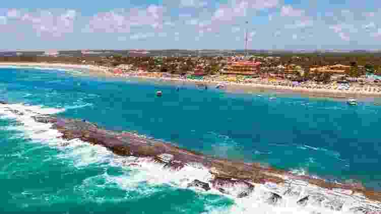 Vista aérea da Praia do Francês, em Marechal Deodoro - Sedetur – Alagoas