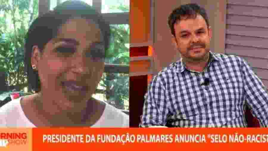 """Os jornalista Alexandra Loras e Adrilles Jorge durante o programa """"Morning Show"""" - Reprodução/YouTube"""
