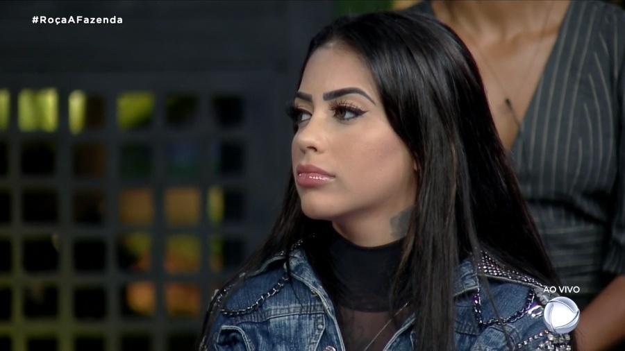 MC Mirella acusou raissa de ser falsa e endossou discussão com Luiza ambiel e Victória - Reprodução/RecordTV
