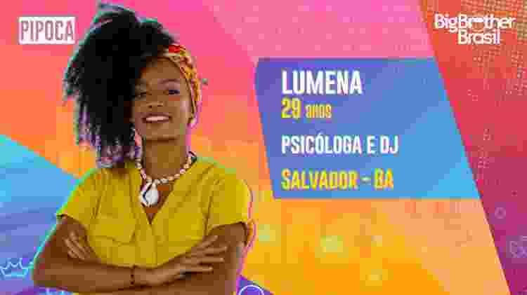 Lumena, do BBB 21 - Divulgação/Globo - Divulgação/Globo