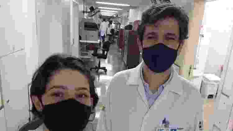 Fisioterapeuta Lívia Pimenta Bonifácio e professor Fernando Bellissimo-Rodrigues, da FMRP  - Arquivo pessoal da pesquisadora - Arquivo pessoal da pesquisadora