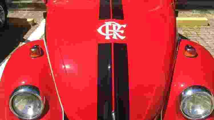 Fusca 1978 virou 'carro oficial' do rubro-negro carioca com o jornalista Marcelo Oliosi ao volante - Arquivo pessoal - Arquivo pessoal