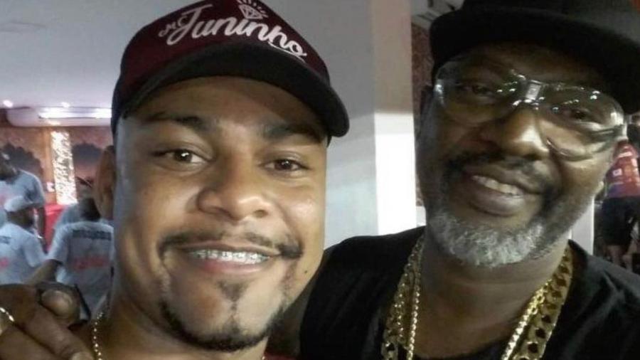 Juninho FSF e o pai, Mr. Catra - Reprodução/Instagram