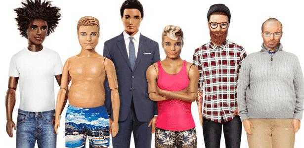 Ken também ganhou versões realistas em sugestão de loja virtual - Reprodução/Facebook