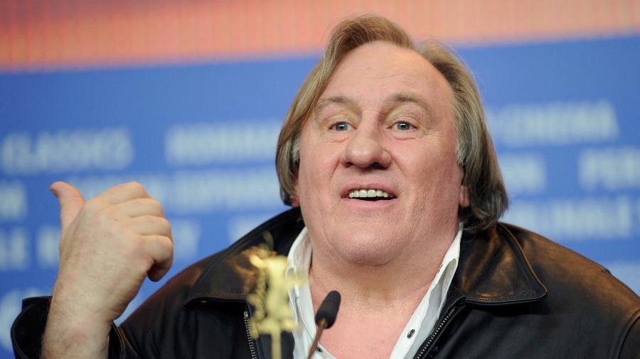 """19.fev.2016 - O ator Gerard Depardieu durante a apresentação do filme """"Saint Amour"""" no Festival de Berlim - Stefanie Loos /Reuters"""