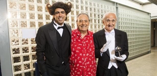 Marcius Melhem, Agildo Ribeiro e Pedro Farah juntos  - Divulgação/TV Globo João Miguel Junior