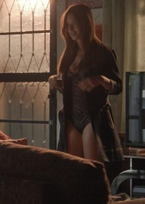"""Eliza (Marina Ruy Barbosa) surge de lingerie  - Reprodução/""""Totalmente Demais""""/GShow"""